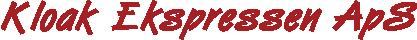 Kloakservice og kloakmester i Viborg | Kloak Ekspressen ApS Logo